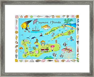Cayman Islands Framed Print by Virginia Ann Hemingson