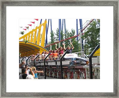 Cedar Point - Top Thrill Dragster - 12122 Framed Print by DC Photographer