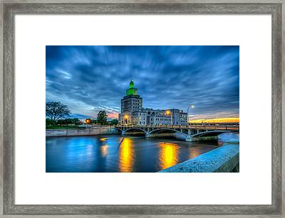 Cedar Rapids Mays Island At Sunset Framed Print