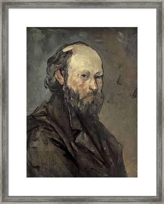 Cezanne, Paul 1839-1906. Self-portrait Framed Print by Everett