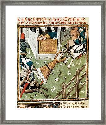 Champion Des Dames, Master Of S. Xv Framed Print by Everett