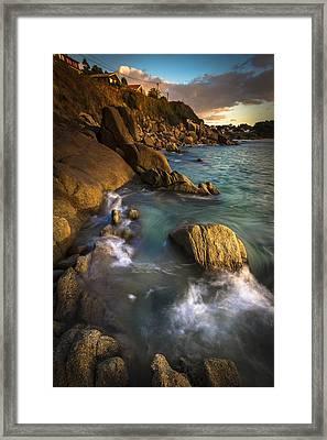 Chanteiro Beach Galicia Spain Framed Print