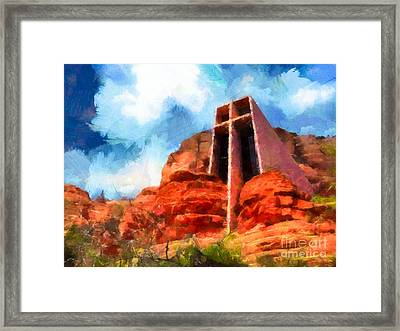 Chapel Of The Holy Cross Sedona Arizona Red Rocks Framed Print