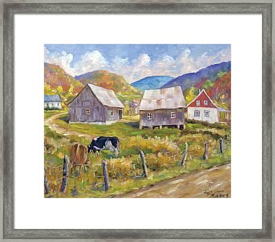 Charlevoix North Framed Print by Richard T Pranke