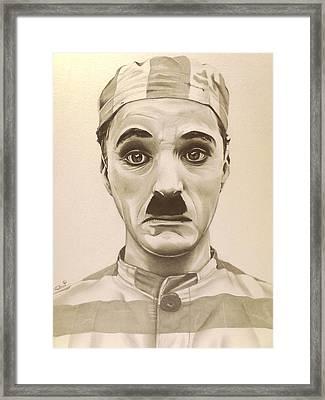 Vintage Charlie Chaplin Framed Print by Fred Larucci