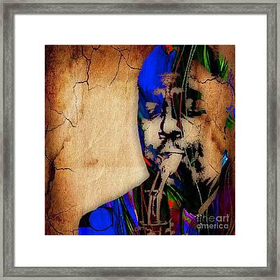 Charlie Parker Collection Framed Print by Marvin Blaine