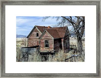 Charming Lakeside Cottage Framed Print