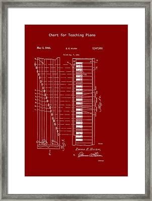 Chart For Teaching Piano Patent 1944 Framed Print