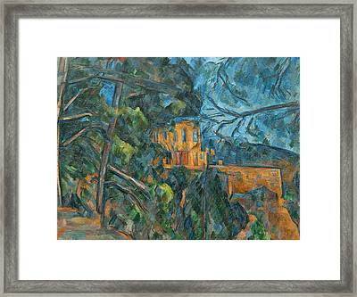 Chateau Noir Framed Print by Paul Cezanne