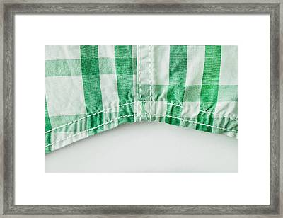 Checked Cotton Framed Print