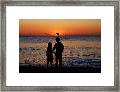 Cherish The Moment Framed Print