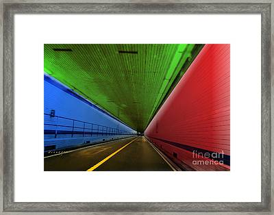 Chesapeake Bay Bridge Tunnel Framed Print by Melissa Messick