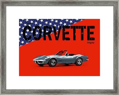 Chevrolet Corvette Stingray Framed Print by Mark Rogan