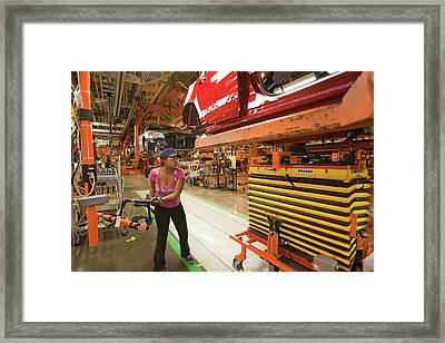 Chevrolet Volt Assembly Line Framed Print by Jim West