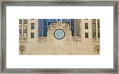 Chicago Board Of Trade Framed Print by John Babis