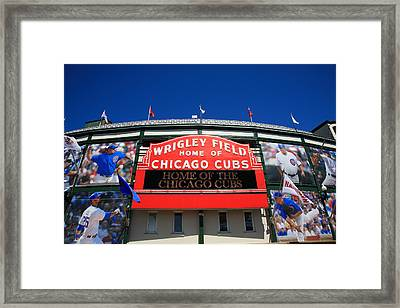 Chicago Cubs - Wrigley Field Framed Print by Frank Romeo