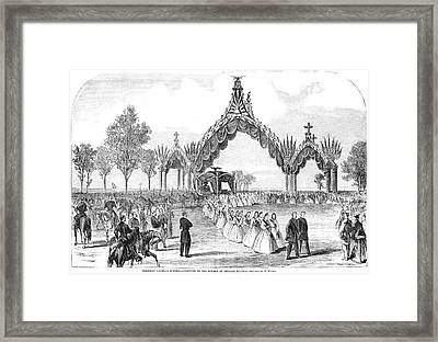 Chicago Lincoln Funeral Framed Print by Granger
