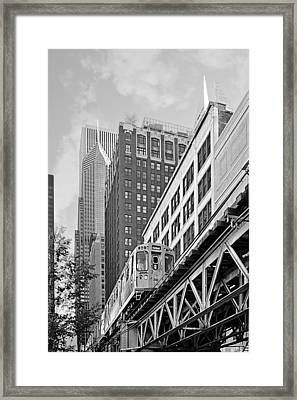 Chicago Loop 'l' Framed Print by Christine Till