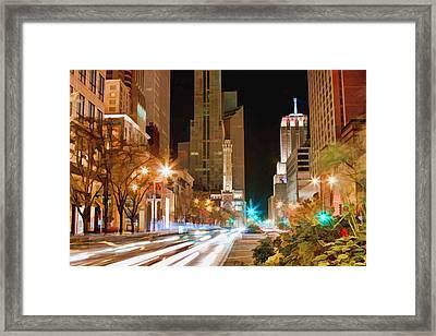 Chicago Michigan Avenue Light Streak Framed Print by Christopher Arndt