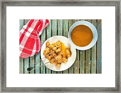 Chicken Meal Framed Print