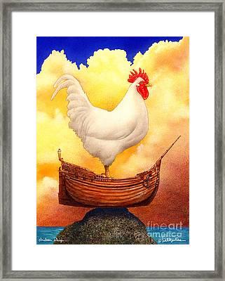 Chicken Ship... Framed Print by Will Bullas