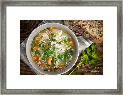 Chicken Soup  Framed Print by Elena Elisseeva