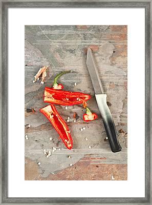 Chilli Pepper Framed Print by Tom Gowanlock
