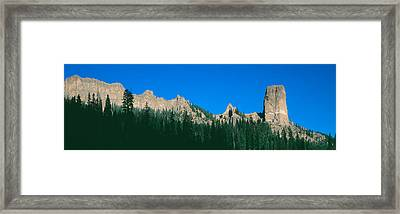 Chimney Peak In Uncompahgre National Framed Print by Panoramic Images
