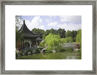 Chinese Water Garden Framed Print