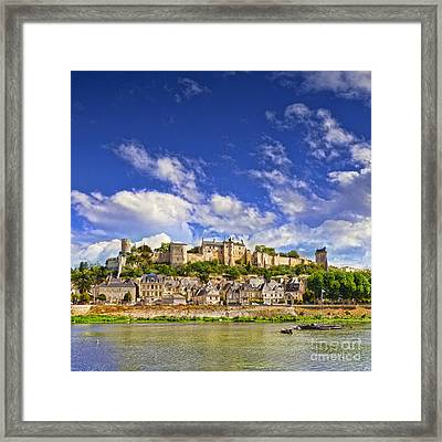 Chinon Loire Valley France Framed Print by Colin and Linda McKie