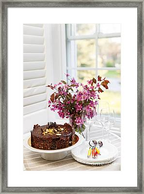 Chocolate Cake Framed Print