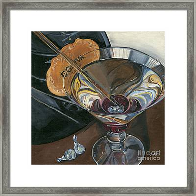 Chocolate Martini Framed Print by Debbie DeWitt