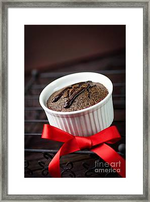 Chocolate Souffle Framed Print