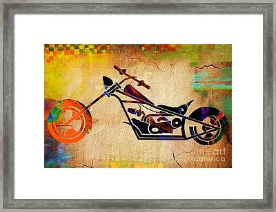 Chopper Art Framed Print