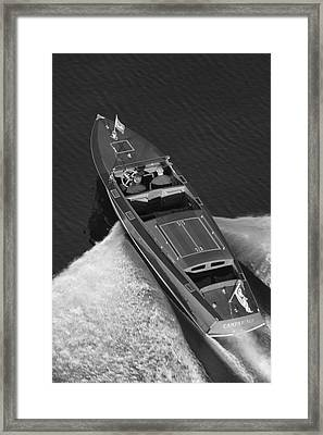 Chris Craft Aerial Framed Print by Steven Lapkin