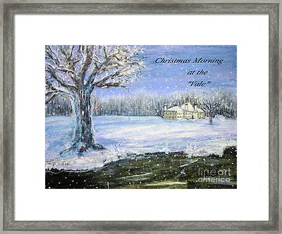 Framed Print featuring the painting Christmas At The Vale by Rita Brown