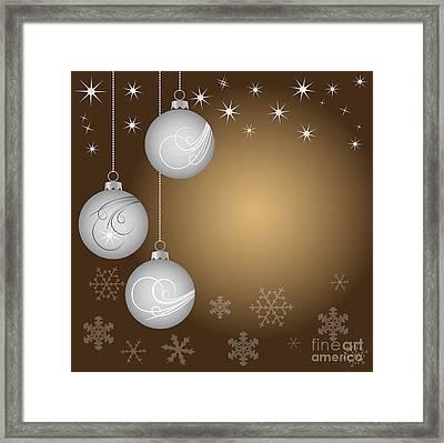 Christmas Background Framed Print by Michal Boubin