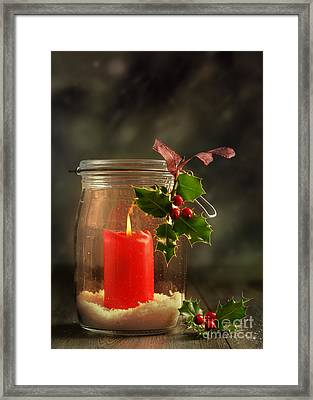 Christmas Candle Framed Print