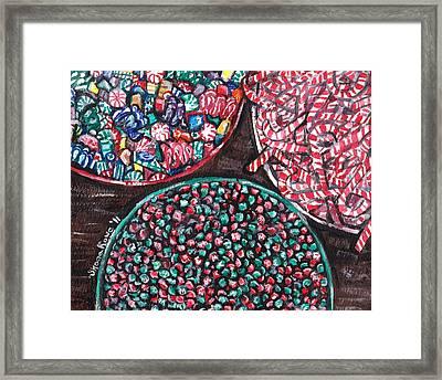 Christmas Candy Framed Print by Shana Rowe Jackson