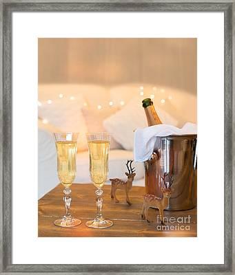 Christmas Champagne Framed Print by Amanda Elwell