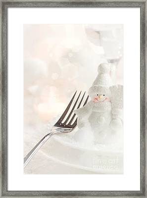 Christmas Dinner Framed Print by Mythja  Photography