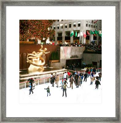 Framed Print featuring the photograph Christmas In New York by Raymond Earley