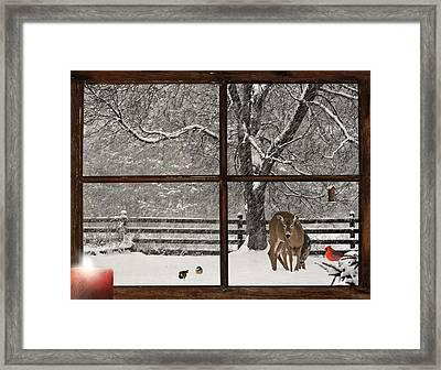 Christmas Morning. Framed Print