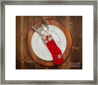 Christmas Table Setting Framed Print