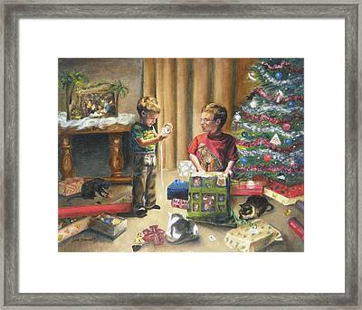 Framed Print featuring the painting Christmas Time by Lori Brackett