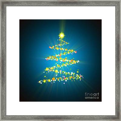 Christmas Tree Framed Print by Atiketta Sangasaeng