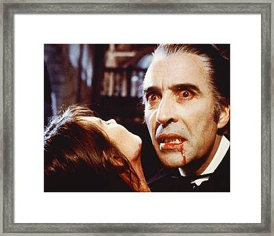 Christopher Lee In Dracula A.d. 1972  Framed Print