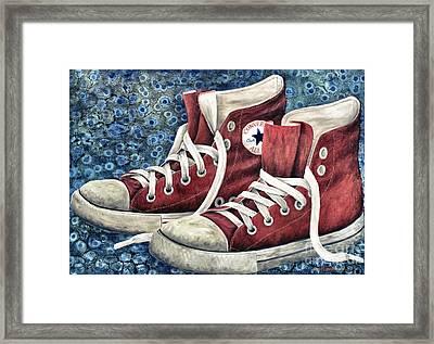 Chucks Framed Print