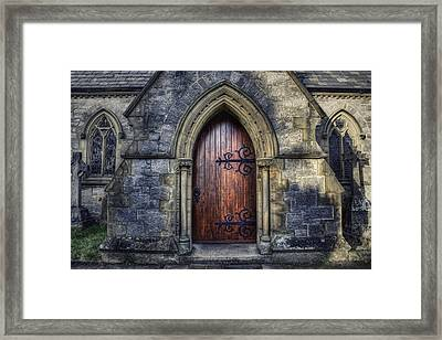 Welcome Please Come In Framed Print