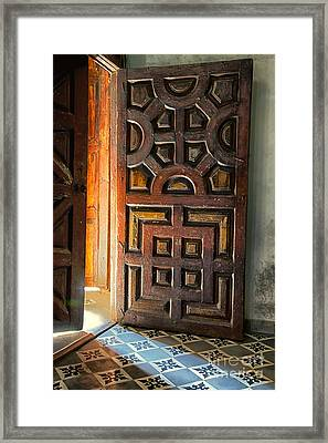 Church Entrance In San Miguel De Allende Framed Print